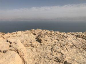 En Gedi View of the Dead Sea from Mountaintop