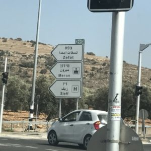 Highway sign to Safed pic