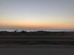 The Mediterranean from Israel Highway